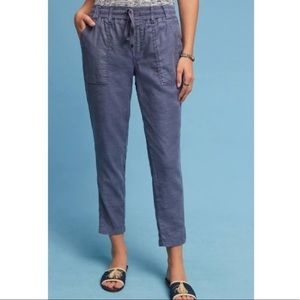 Anthropologie Level 99 Linen Side Slit Pants Small